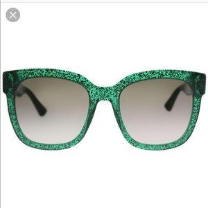 Gucci 54MM 007 Sparkle Square Sunglasses